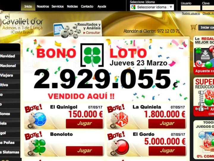Premio repartido por Lotería Cavallet D'or
