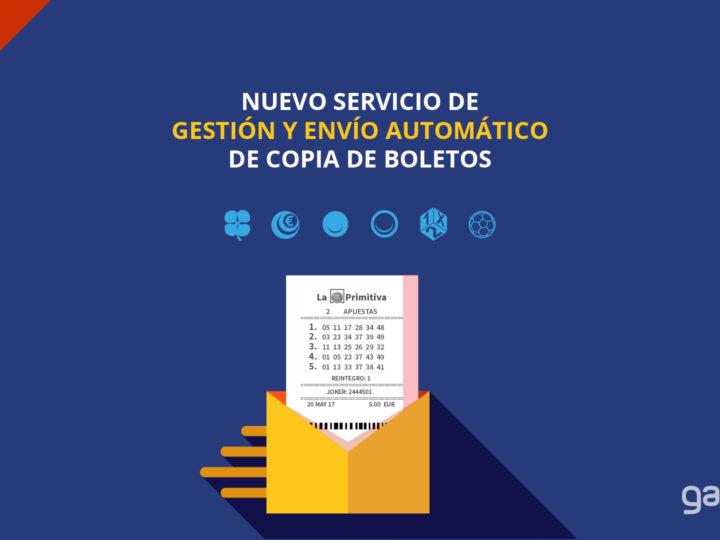 ¡NOVEDAD! Servicio gestión y envío automático de boletos